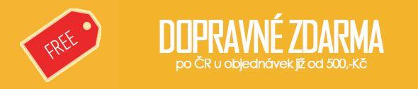 Poštovné po ČR zdarma u objednávek nad 500,-Kč
