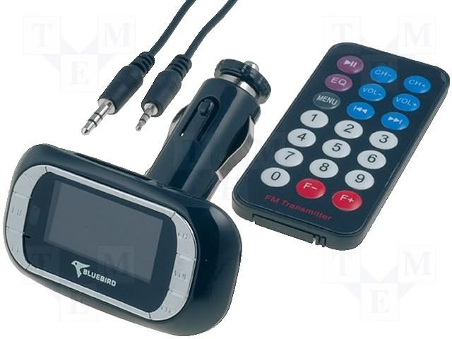 FM vysílač TR-FM-002BS stříbrná/černá