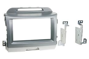 Rámeček autorádia 2-DIN Kia Sportage III. (10->) stříbrná