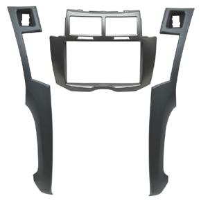 Rámečeka autorádia 2-DIN Toyota Yaris (08->11) stříbrná/antracit