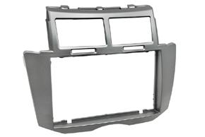 Rámečeka autorádia 2-DIN Toyota Yaris (08->11) stříbrná