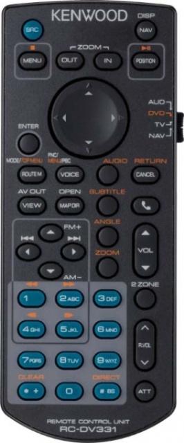 Kenwood KNA-RCDV331 dálkový ovladač