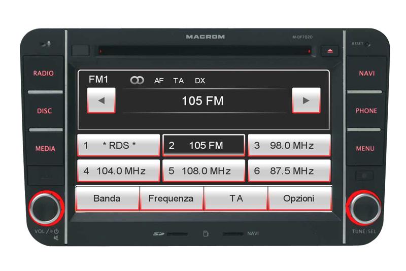 Autorádio MACROM M-OF7020 OEM navigace Škoda / VW / Seat