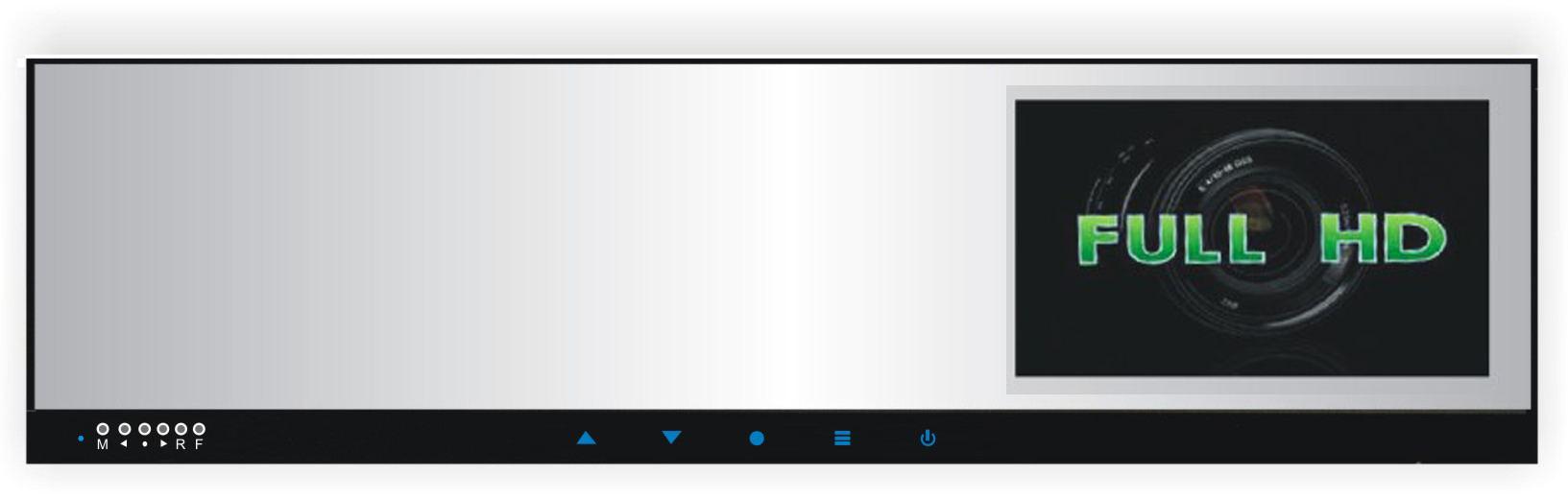 "LCD monitor 4,3"" na zrcátko s FULL HD DVR kamerou DS-430DVRHD"