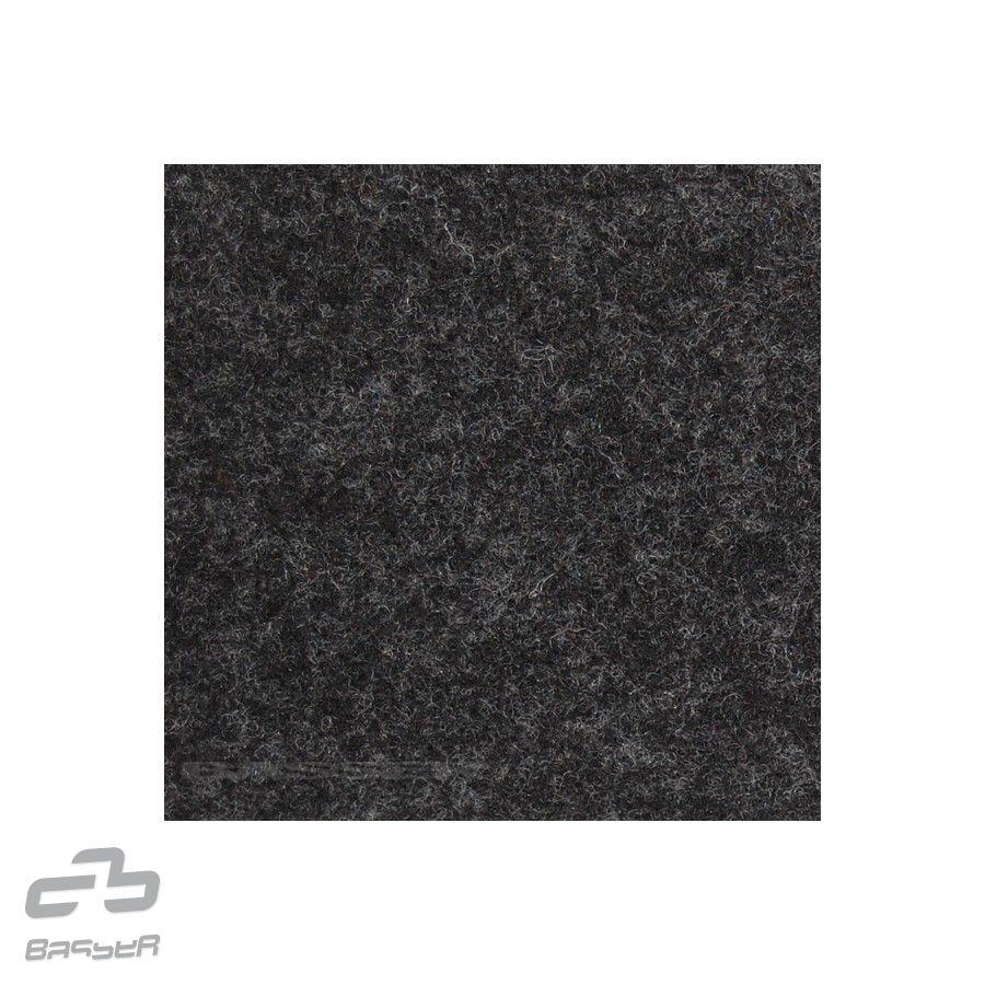 Basser potahový čalounický koberec černý melír 150x70 cm