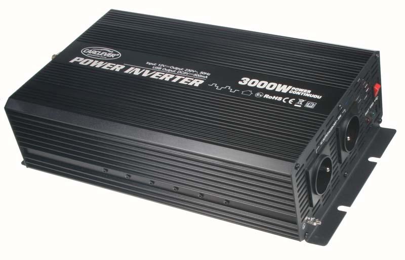 Měnič napětí 24V / 230V 3000W + USB