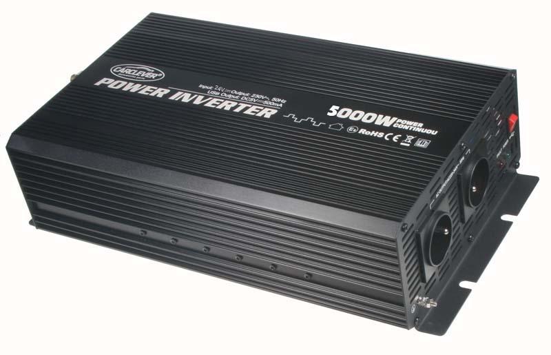 Měnič napětí 24V / 230V 5000W + USB