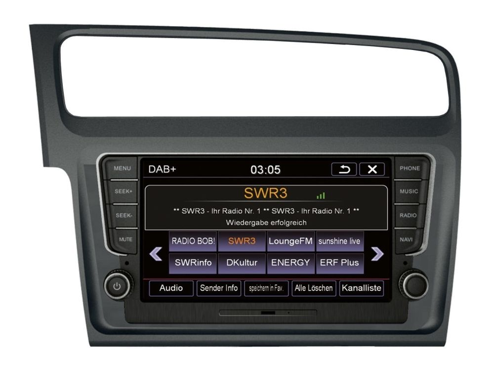 Autorádio ESX VN810 VW-G7 OEM navigace VW Golf VII