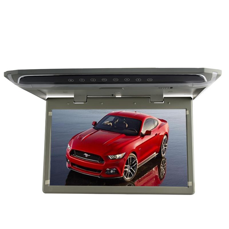 """Stropní LCD monitor 15,6"""" šedý s USB/HDMI/microSD, ultra tenký"""