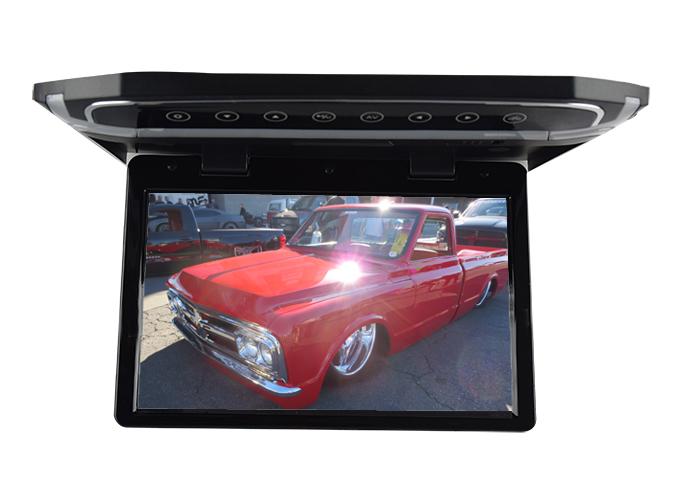 """Stropní LCD monitor 15,6"""" černý s USB/HDMI/microSD, ultra tenký"""