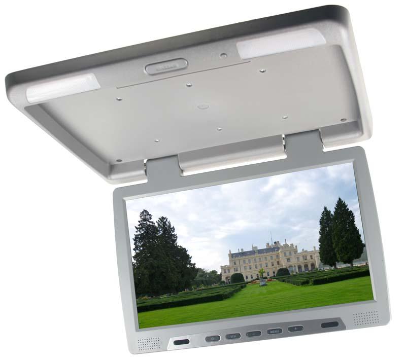 "Stropní LCD monitor 15.6"" šedý neotočný"