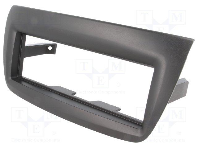 Rámeček autorádia 1-DIN Fiat Doblo / Opel Combo 10-> černá matná