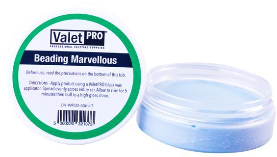 ValetPro Beading Marvellous Carnauba Wax 50ml tvrdý vosk
